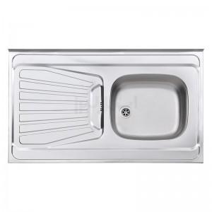سینک ظرفشویی استیل البرز مدل 165/60 روکار