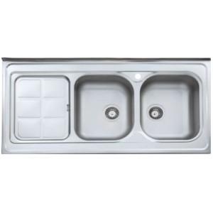 سینک ظرفشویی استیل البرز مدل 215/60 روکار