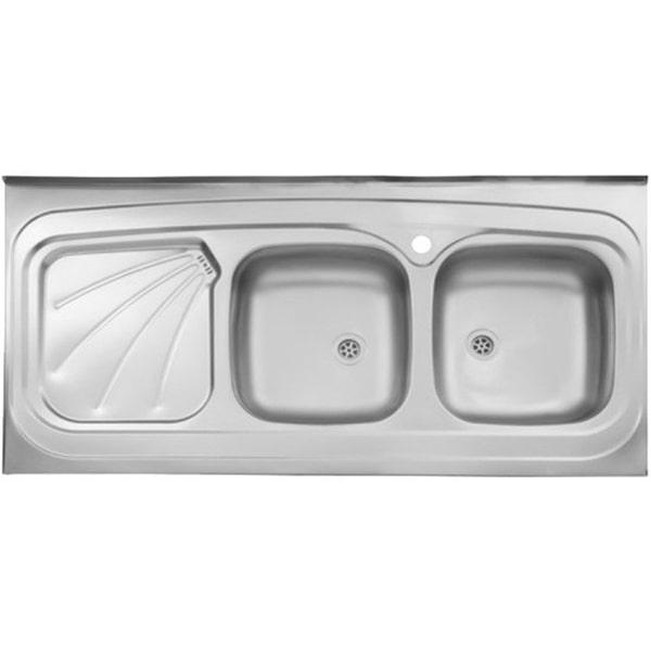 سینک ظرفشویی استیل البرز مدل 220/60 روکار