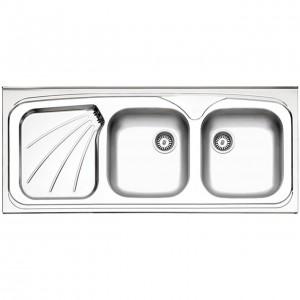 سینک ظرفشویی استیل البرز مدل 270/50 روکار