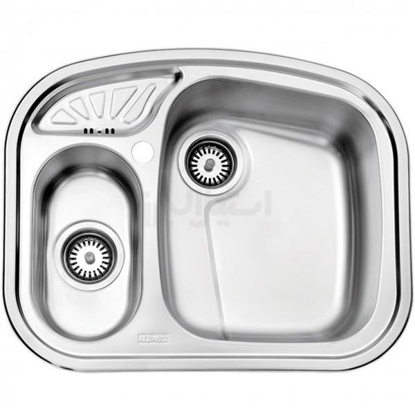 سینک ظرفشویی استیل البرز مدل 605/50 توکار