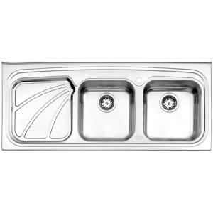 سینک ظرفشویی استیل البرز مدل 612/50 روکار