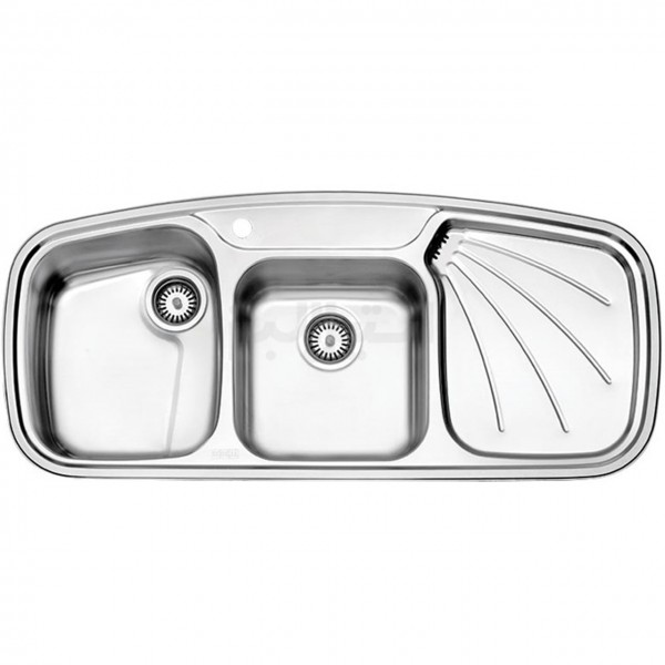 سینک ظرفشویی استیل البرز مدل 614/52 توکار