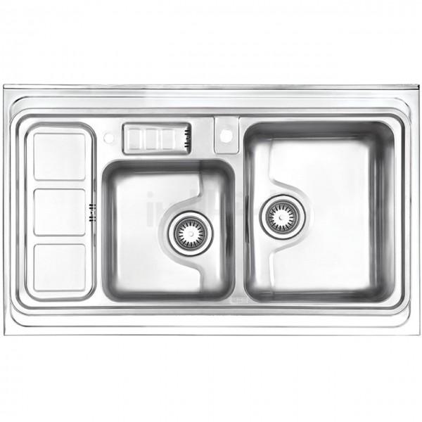 سینک ظرفشویی استیل البرز مدل 814/60 روکار