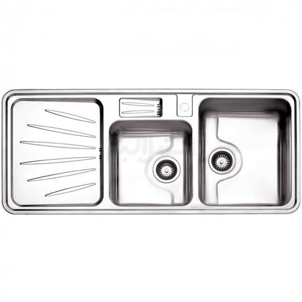 سینک ظرفشویی استیل البرز مدل 814/52 توکار