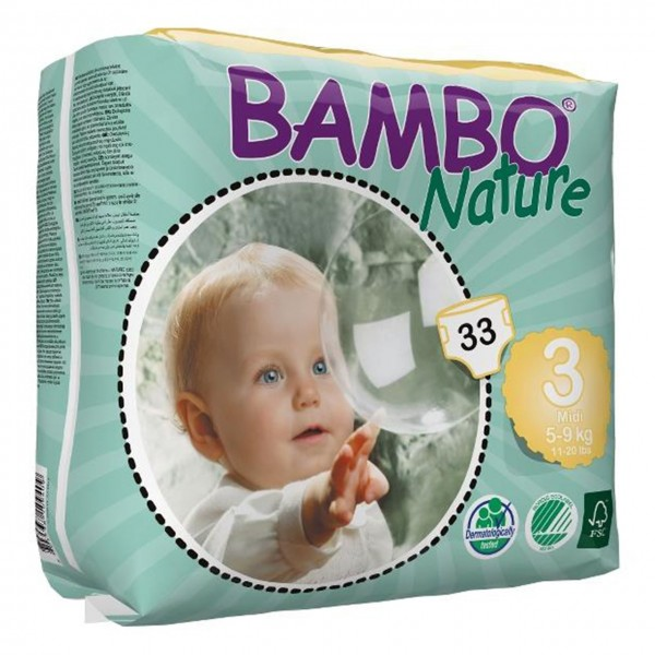 پوشک بامبو سایز 3 بسته 33 عددی