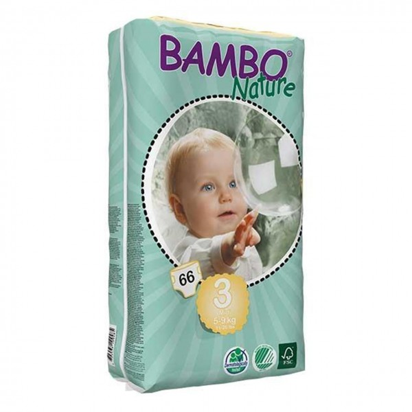 پوشک بامبو سایز 3 بسته 66 عددی